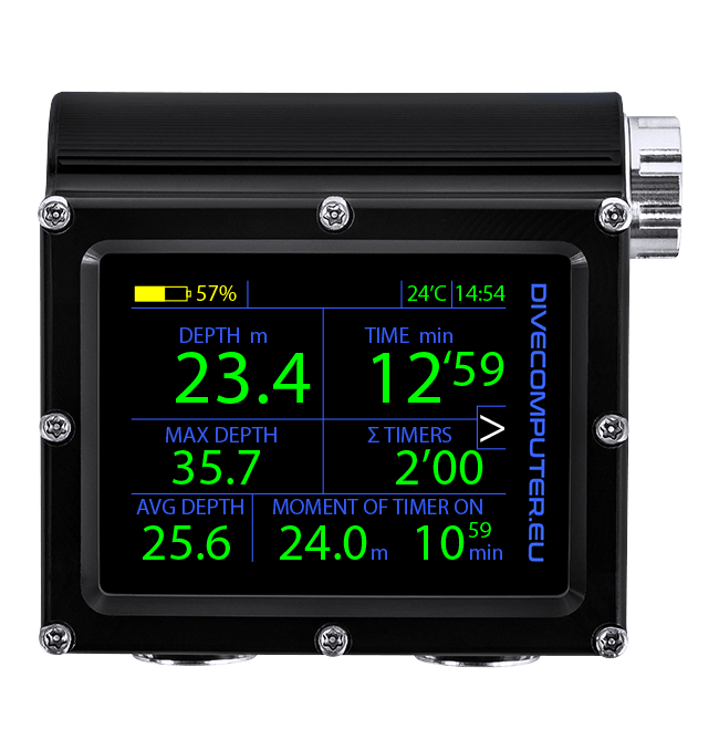 Multifunctional dive computer - Extended gauge mode
