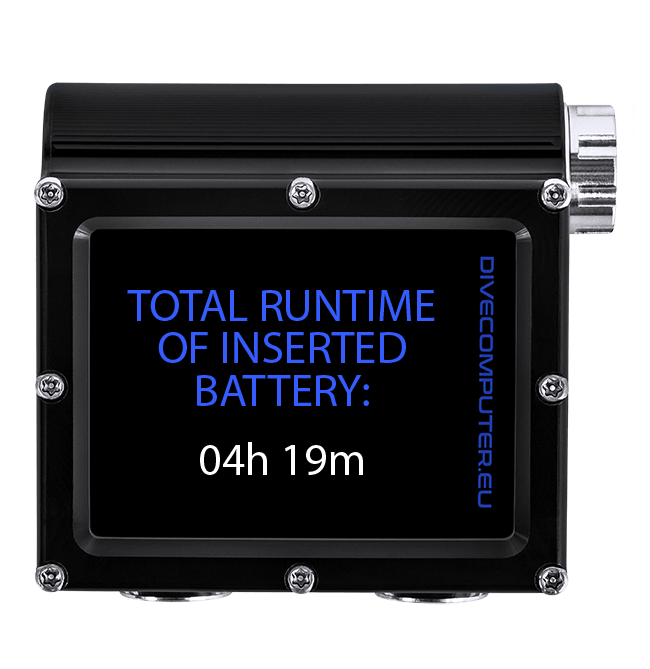 Total runtime of inserted battery
