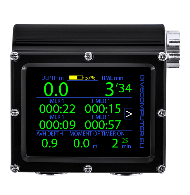 Dive computer - Stopwatch choice screen in Extended gauge mode