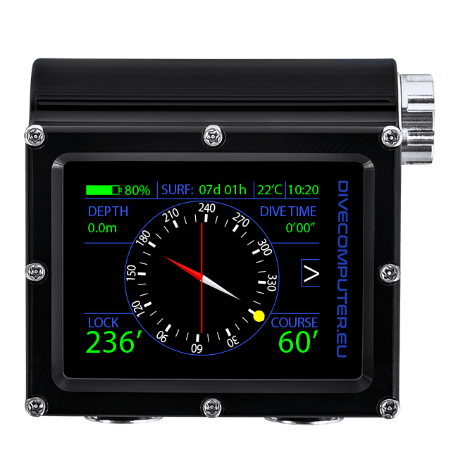 Dive computer - Surface compass in OC TECH mode