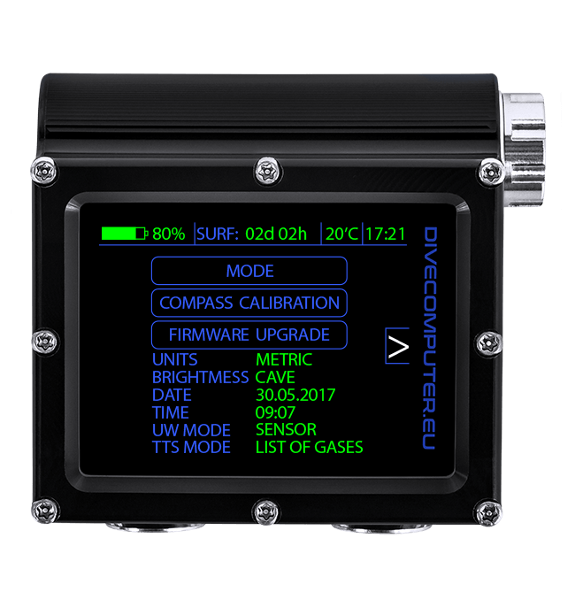 Pure Buhlmann Mode - system setup screen